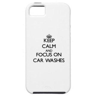 Mantenha a calma e o foco em lavagens de carros capas iPhone 5