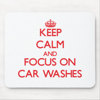 Mantenha a calma e o foco em lavagens de carros