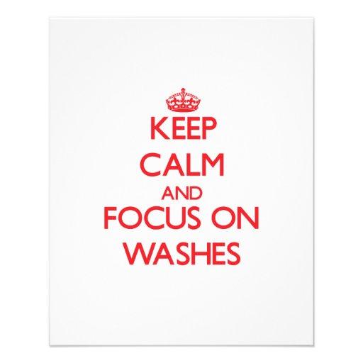Mantenha a calma e o foco em lavagens panfletos personalizado