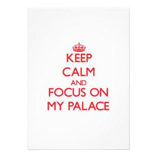 Mantenha a calma e o foco em meu palácio convites