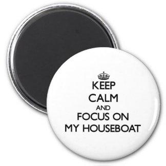Mantenha a calma e o foco em minha casa flutuante