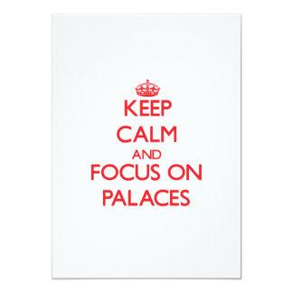 mantenha a calma E O FOCO em palácios Convite 12.7 X 17.78cm