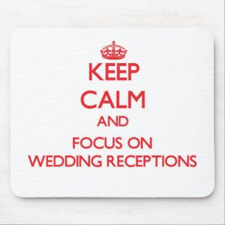 Mantenha a calma e o foco em recepções de