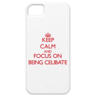 Mantenha a calma e o foco em ser celibato capa iPhone 5