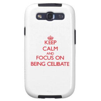 Mantenha a calma e o foco em ser celibato samsung galaxy s3 capas