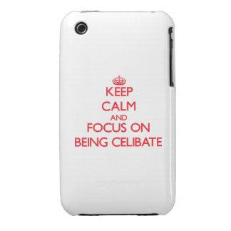 Mantenha a calma e o foco em ser celibato capa de iPhone 3 Case-Mate
