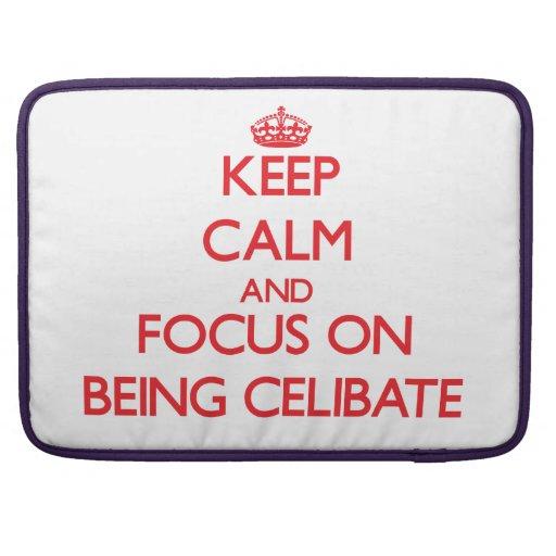 Mantenha a calma e o foco em ser celibato bolsa para MacBook pro
