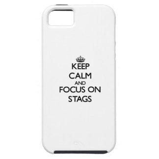 Mantenha a calma e o foco em veados capas iPhone 5 Case-Mate