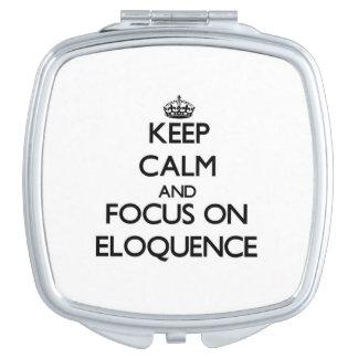 Mantenha a calma e o foco na ELOQUÊNCIA Espelhinho Compacto