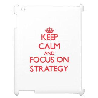 Mantenha a calma e o foco na estratégia capas para iPad