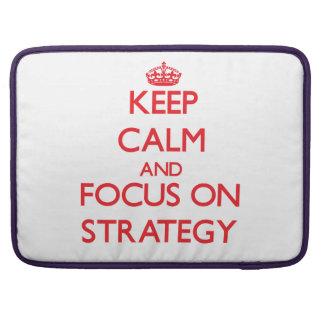 Mantenha a calma e o foco na estratégia bolsa para MacBook pro