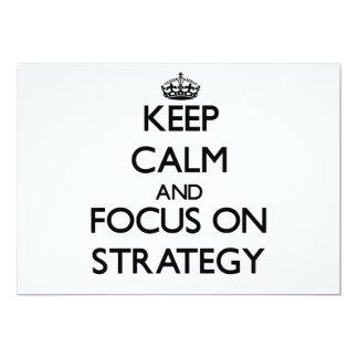Mantenha a calma e o foco na estratégia convite