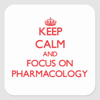 Mantenha a calma e o foco na farmacologia adesivo quadrado