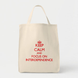 Mantenha a calma e o foco na interdependência bolsas para compras