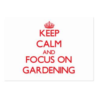 Mantenha a calma e o foco na jardinagem modelos cartão de visita