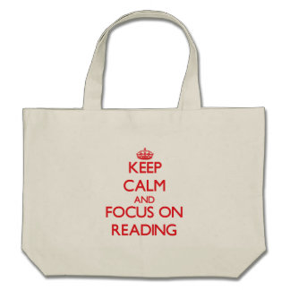 Mantenha a calma e o foco na leitura bolsas para compras