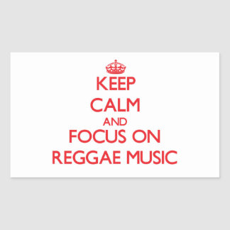 Mantenha a calma e o foco na música da reggae adesivo
