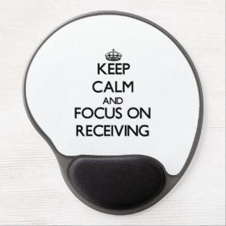 Mantenha a calma e o foco na recepção mouse pad de gel