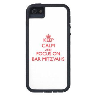 Mantenha a calma e o foco no bar Mitzvahs Capa De iPhone 5 Case-Mate