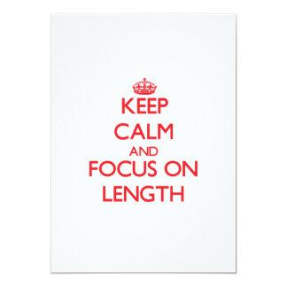 Mantenha a calma e o foco no comprimento convite 12.7 x 17.78cm