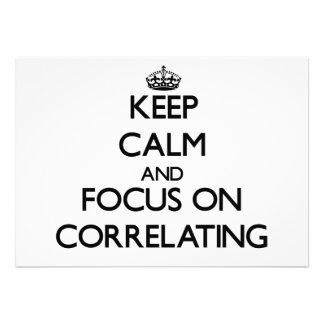 Mantenha a calma e o foco no correlacionamento convite
