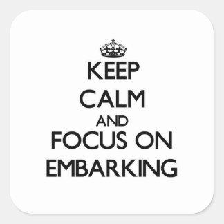 Mantenha a calma e o foco no EMBARQUE