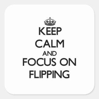 Mantenha a calma e o foco no lançamento
