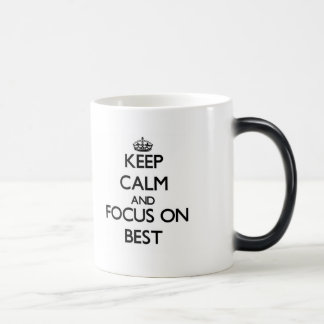 Mantenha a calma e o foco no melhor canecas