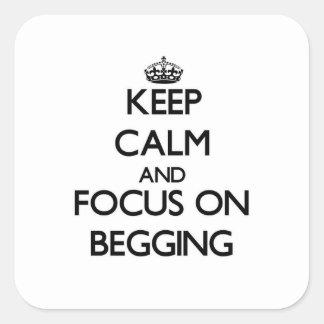 Mantenha a calma e o foco no pedido