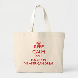 Mantenha a calma e o foco no sonho americano bolsa