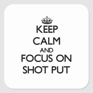 Mantenha a calma e o foco no tiro psto