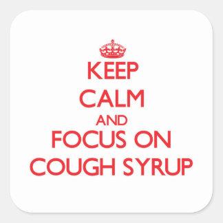 Mantenha a calma e o foco no xarope da tosse adesivos