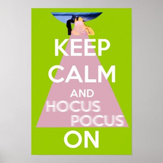 Mantenha a calma e o Hocus Pocus no poster