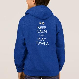 Mantenha a calma e o jogo Tawla T-shirt