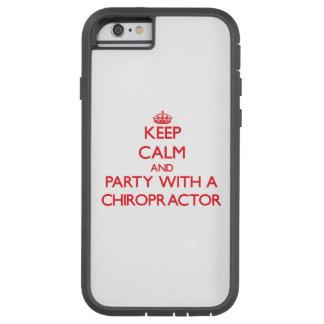 Mantenha a calma e o partido com um Chiropractor Capa Tough Xtreme Para iPhone 6