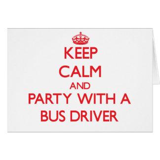 Mantenha a calma e o partido com um condutor de au cartão comemorativo
