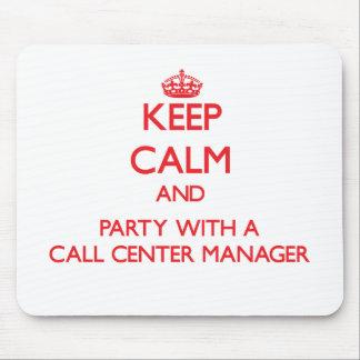 Mantenha a calma e o partido com um gerente do cen mousepad