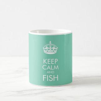Mantenha a calma e os peixes - para personalizar o caneca