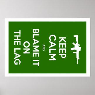 Mantenha a calma e responsabilize-a na retardação pôster