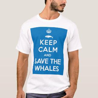 Mantenha a calma e salvar as baleias camiseta