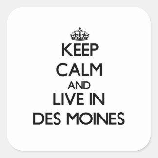 Mantenha a calma e viva em Des Moines