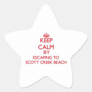 Mantenha a calma escapando à praia Califor da angr Adesivos Estrelas