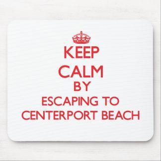 Mantenha a calma escapando à praia New York de Cen Mousepad