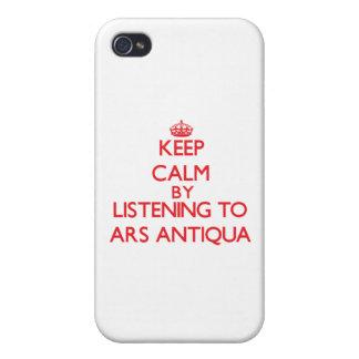 Mantenha a calma escutando o ARS ANTIQUA Capa iPhone 4