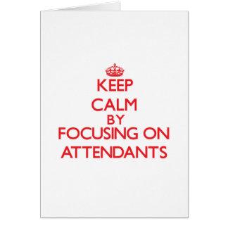 Mantenha a calma focalizando em assistentes cartão