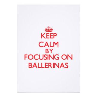 Mantenha a calma focalizando em bailarinas convites