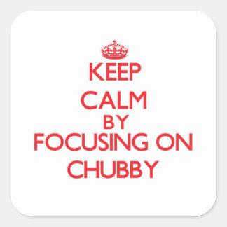 Mantenha a calma focalizando em carnudo adesivo