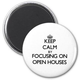Mantenha a calma focalizando em casas Open