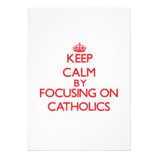 Mantenha a calma focalizando em católicos convites personalizados