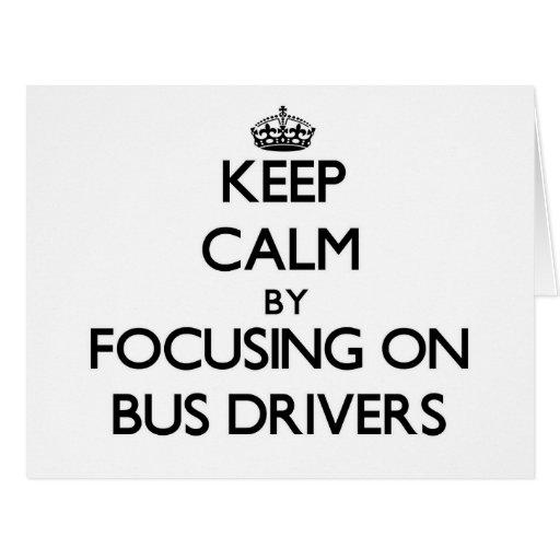 Mantenha a calma focalizando em condutores de auto cartoes